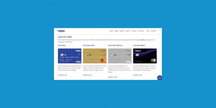 attivazione carta di credito nexi