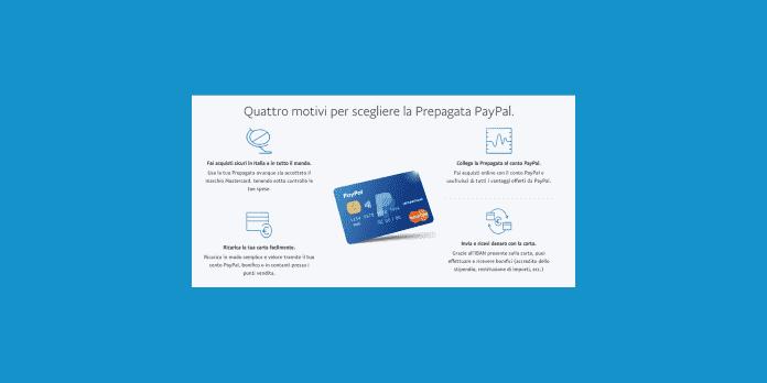 carta PayPal prepagata