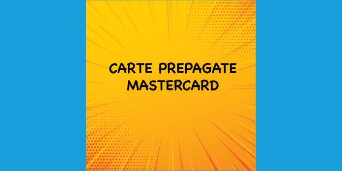 carte mastercard prepaid